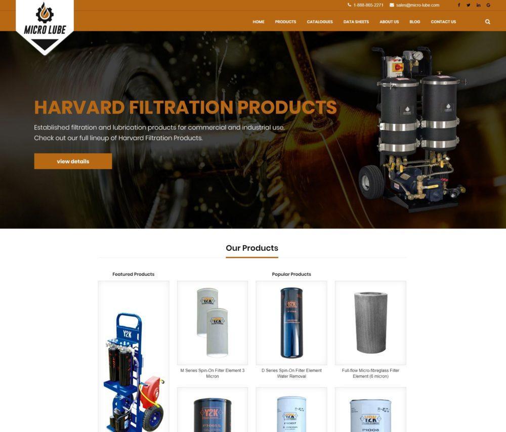 Industrial Filtration- Magento Development