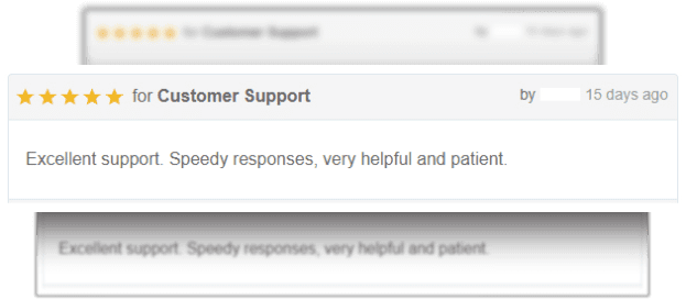 Customers alway satisfied with our service