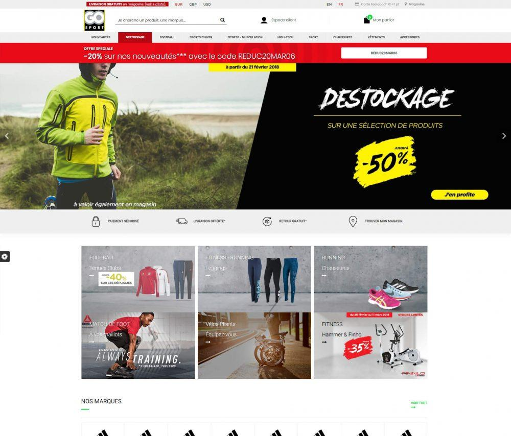 Go-sport Pretashop development